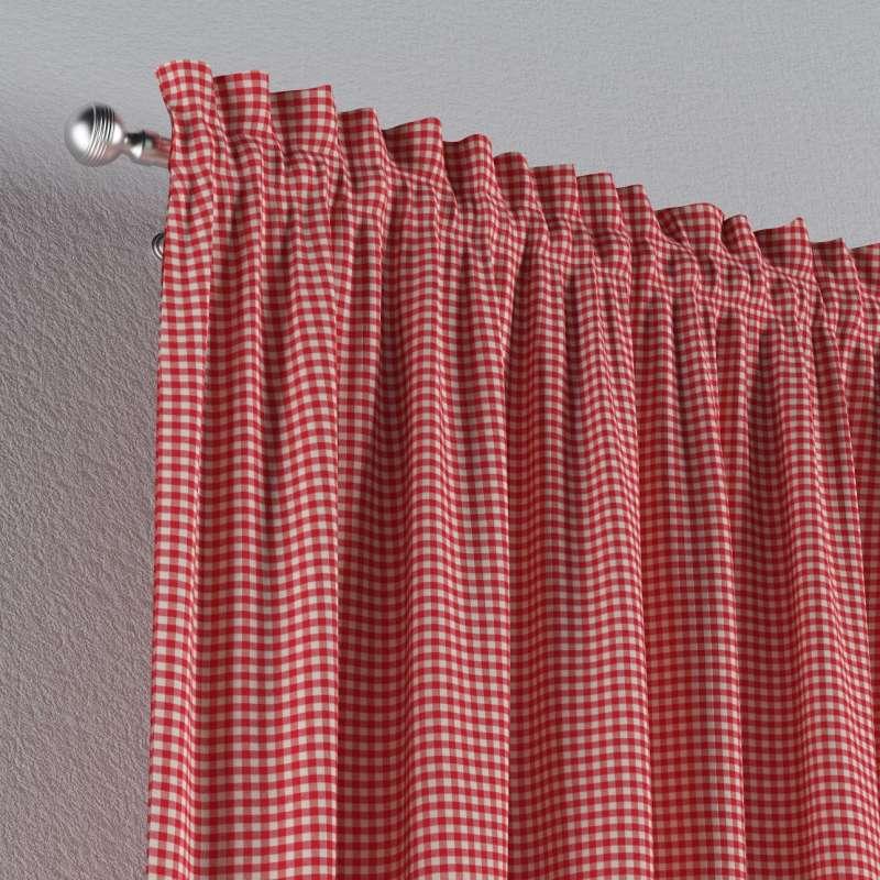 Zasłona na kanale z grzywką 1 szt. w kolekcji Quadro, tkanina: 136-15