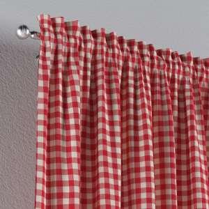 Vorhang mit Tunnel und Köpfchen 130 x 260 cm von der Kollektion Quadro, Stoff: 136-16