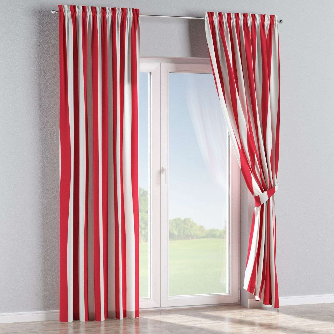 Slot and frill curtains 130 x 260 cm (51 x 102 inch) in collection Comics/Geometrical, fabric: 137-54