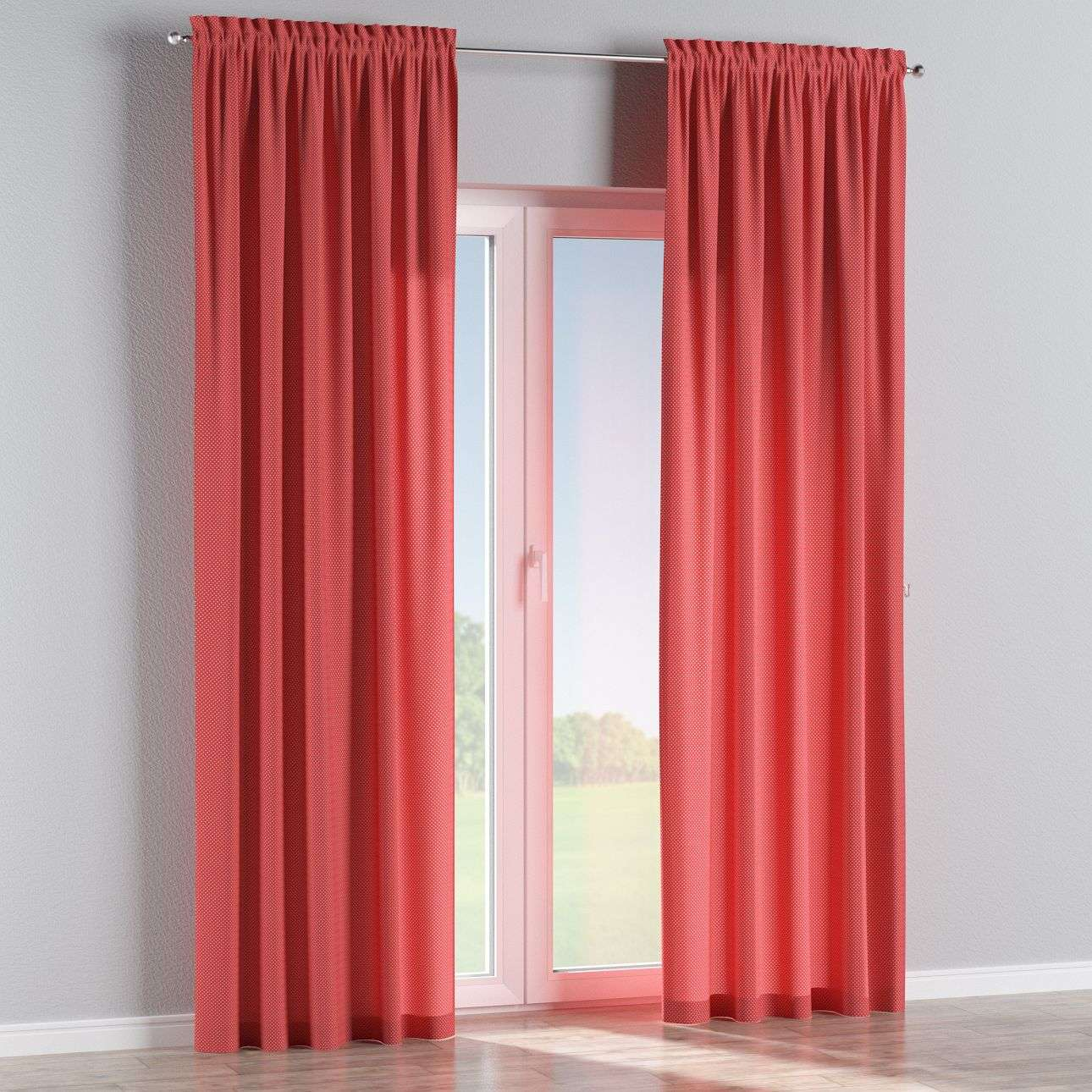 Slot and frill curtains 130 x 260 cm (51 x 102 inch) in collection Ashley, fabric: 137-50