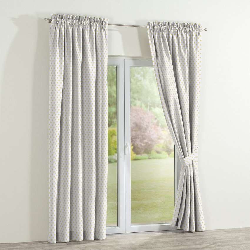 Slot and frill curtains 130 × 260 cm (51 × 102 inch) in collection Ashley, fabric: 137-65