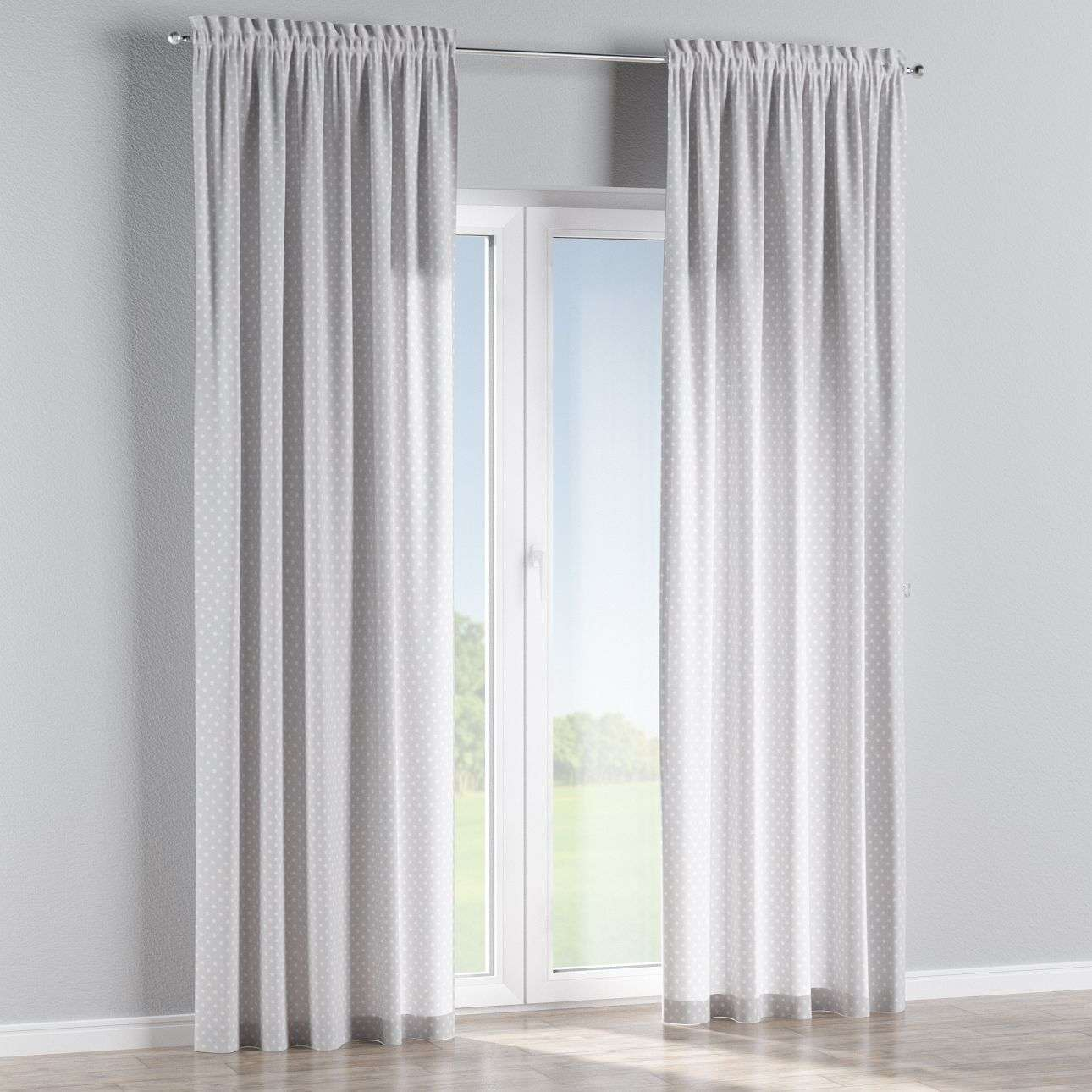 Slot and frill curtains in collection Ashley, fabric: 137-67