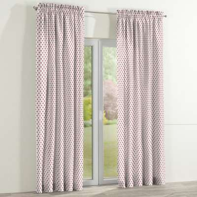 Slot and frill curtain 137-70 red spots on white background Collection Little World