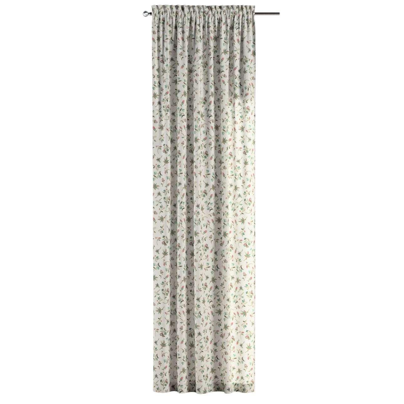 Gardin med kanal - Multiband 1 längd 130 x 260 cm i kollektionen Londres, Tyg: 122-02
