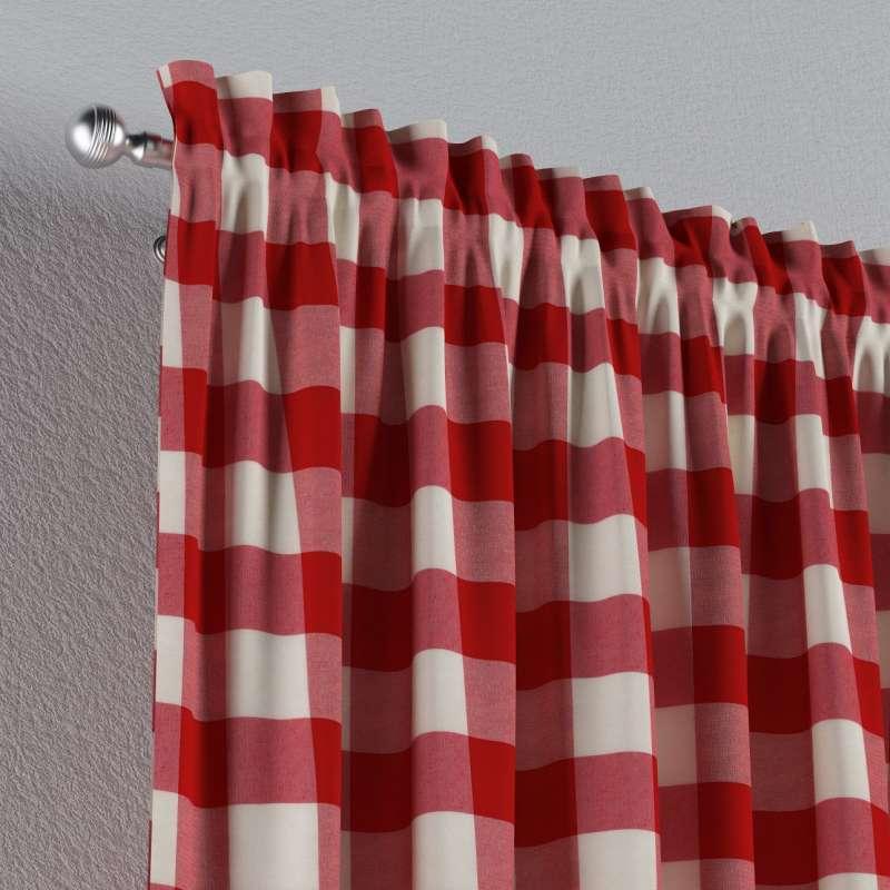 Vorhang mit Tunnel und Köpfchen von der Kollektion Quadro, Stoff: 136-18
