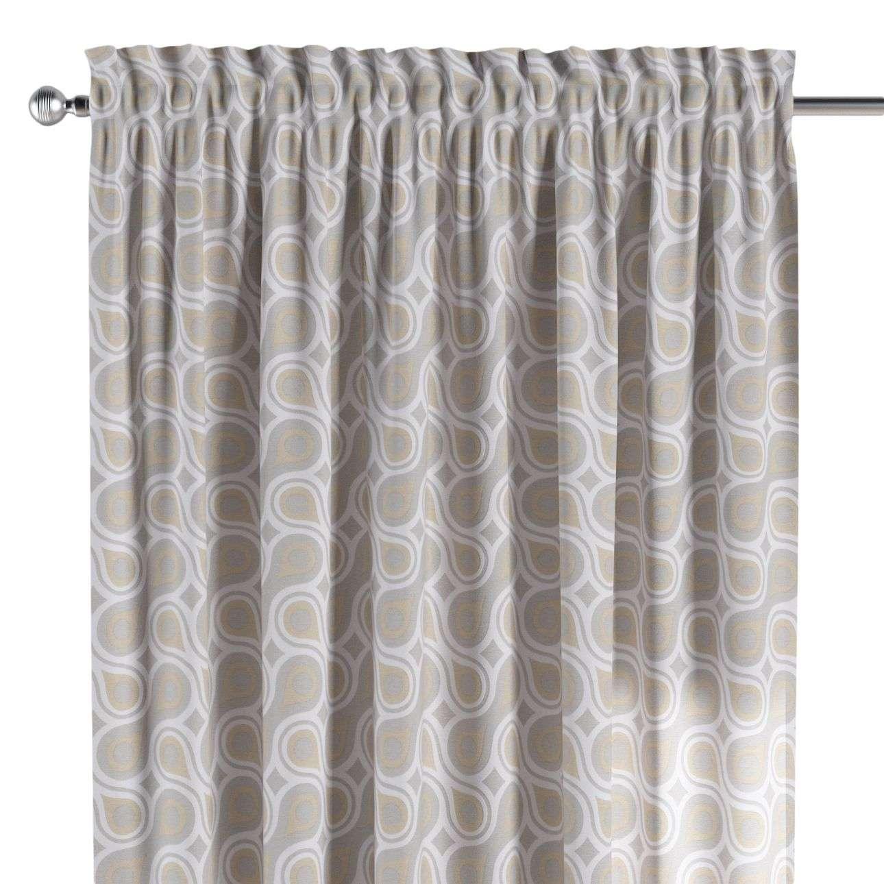 Slot and frill curtains in collection Flowers, fabric: 311-11