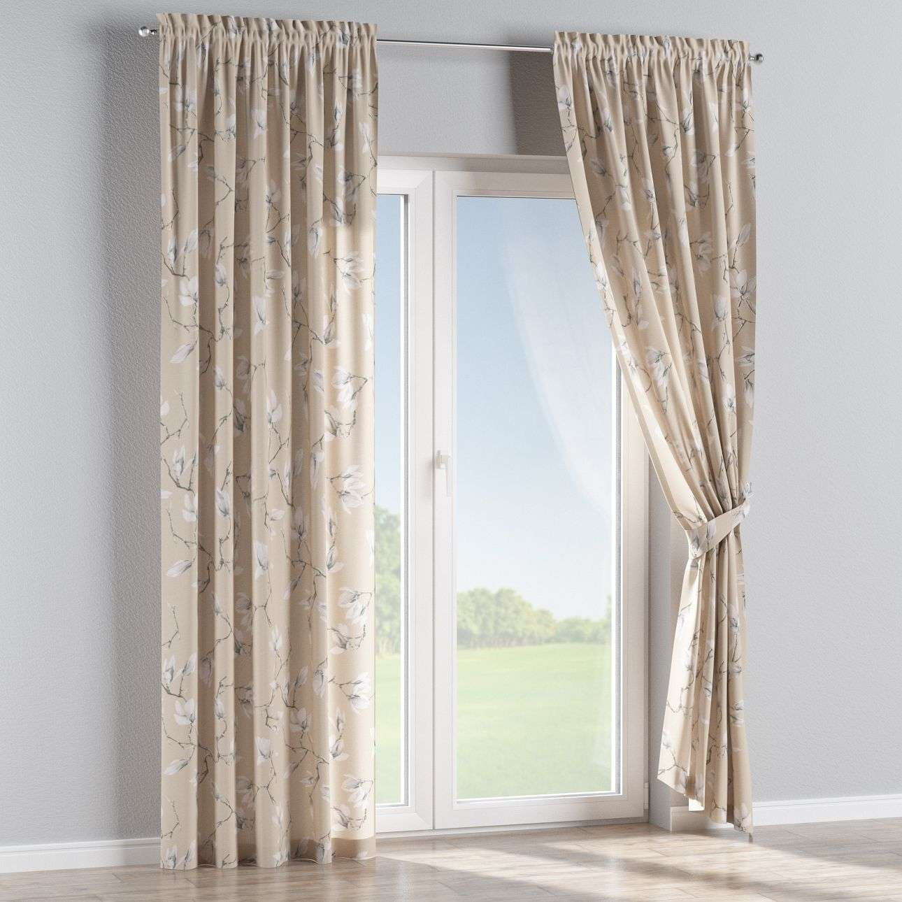 Slot and frill curtains 130 × 260 cm (51 × 102 inch) in collection Flowers, fabric: 311-12