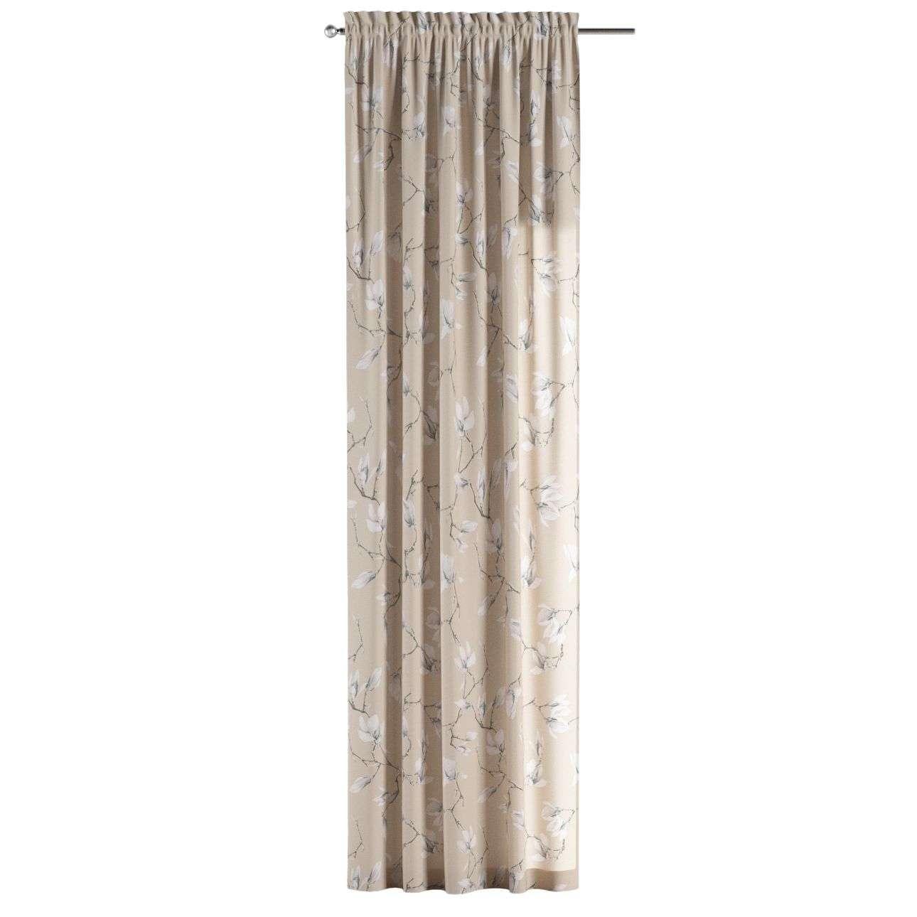 Zasłona na kanale z grzywką 1 szt. 1szt 130x260 cm w kolekcji Flowers, tkanina: 311-12