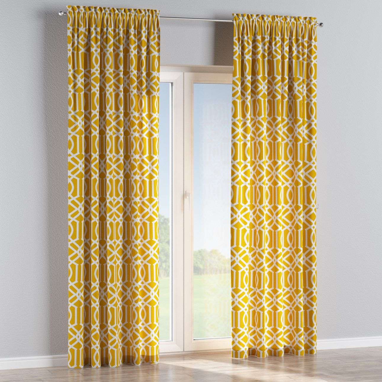 Slot and frill curtains in collection Comics/Geometrical, fabric: 135-09