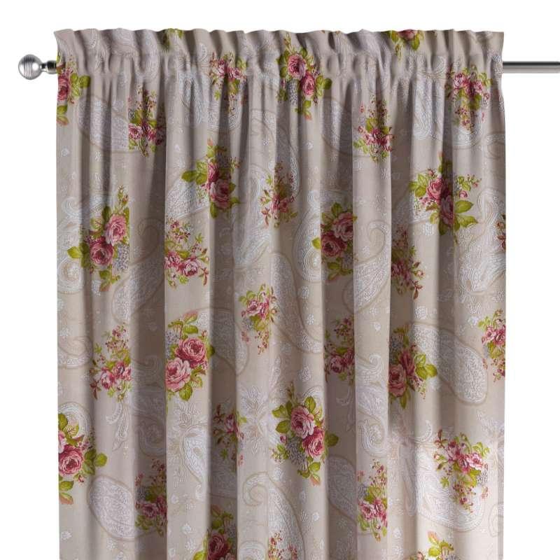 Zasłona na kanale z grzywką 1 szt. w kolekcji Flowers, tkanina: 311-15