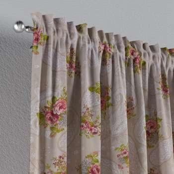 Zasłona na kanale z grzywką 1 szt. 1szt 130x260 cm w kolekcji Flowers, tkanina: 311-15