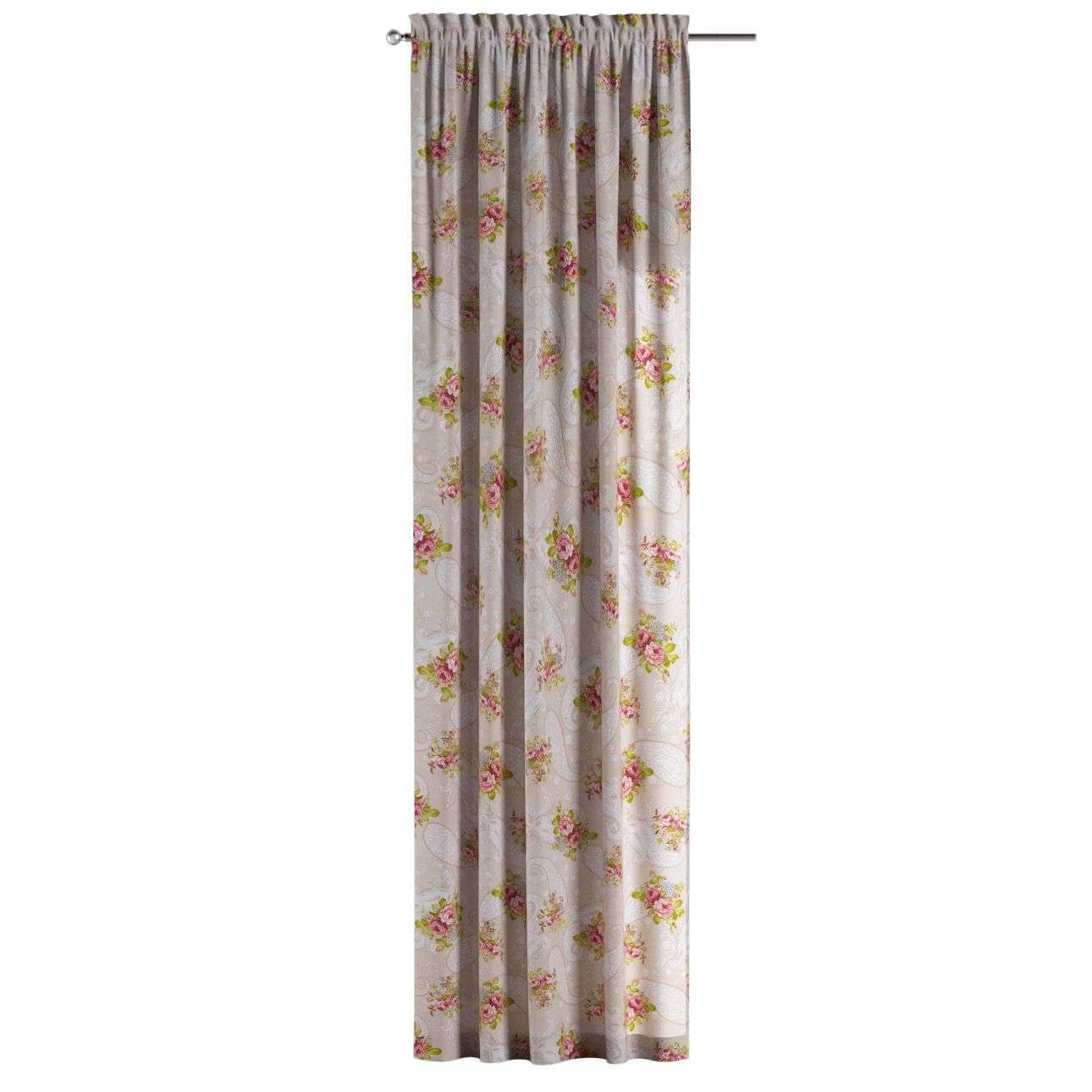 Gardin med kanal - Multiband 1 längd i kollektionen Flowers, Tyg: 311-15