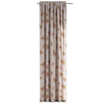 Vorhang mit Tunnel und Köpfchen von der Kollektion Flowers, Stoff: 311-15