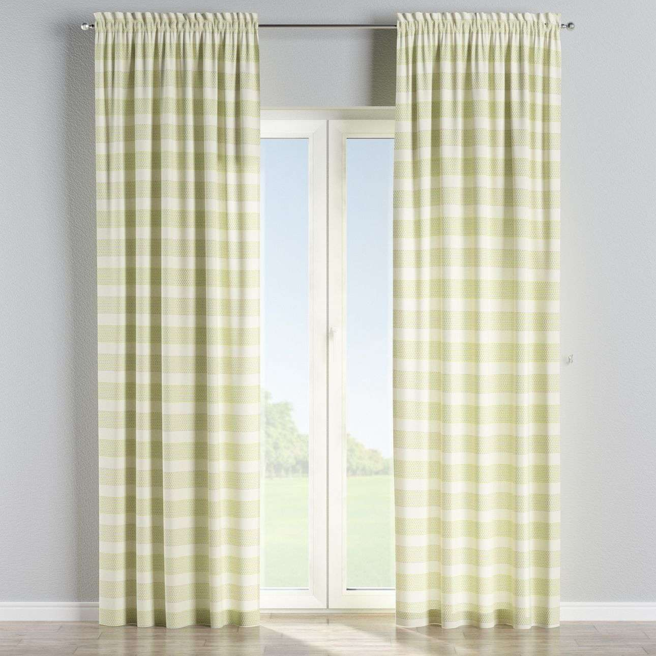 Slot and frill curtains in collection Rustica, fabric: 140-35