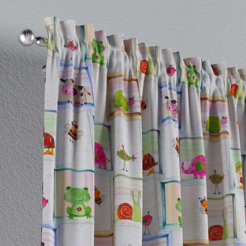 Zasłona na kanale z grzywką 1 szt. w kolekcji Little World, tkanina: 151-04