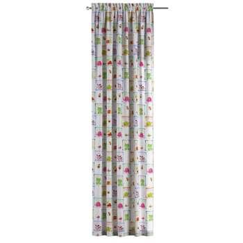 Zasłona na kanale z grzywką 1 szt. 1szt 130x260 cm w kolekcji Apanona, tkanina: 151-04