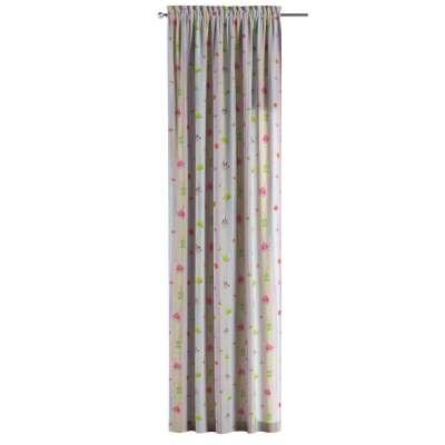 Zasłona na kanale z grzywką 1 szt. w kolekcji Apanona do -50%, tkanina: 151-05