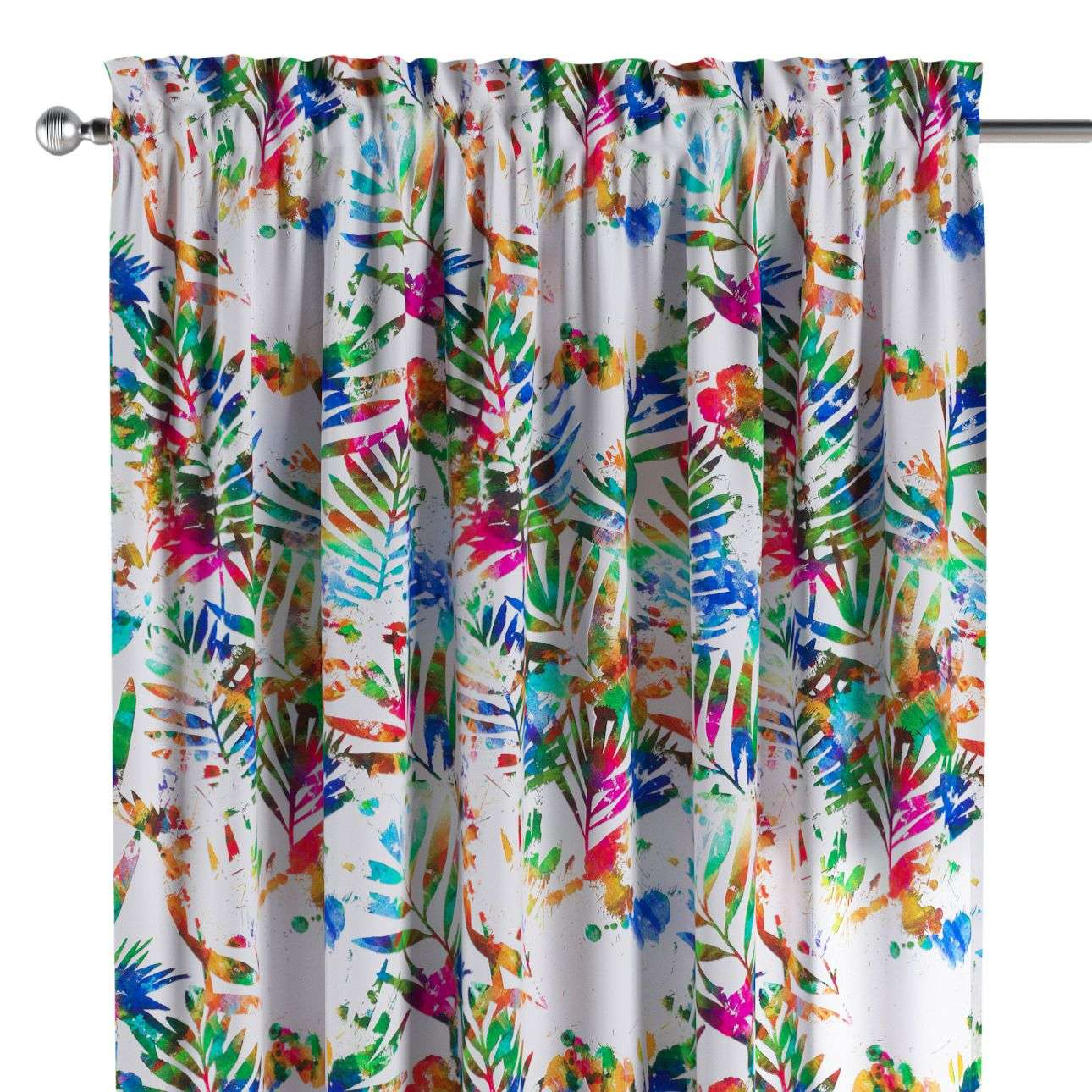 Slot and frill curtains 130 x 260 cm (51 x 102 inch) in collection New Art, fabric: 140-22