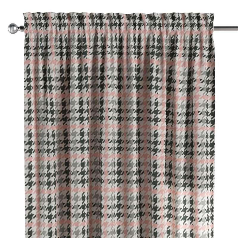 Zasłona na kanale z grzywką 1 szt. w kolekcji Brooklyn, tkanina: 137-75