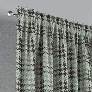 Zasłona na kanale z grzywką 1 szt. w kolekcji Brooklyn, tkanina: 137-77