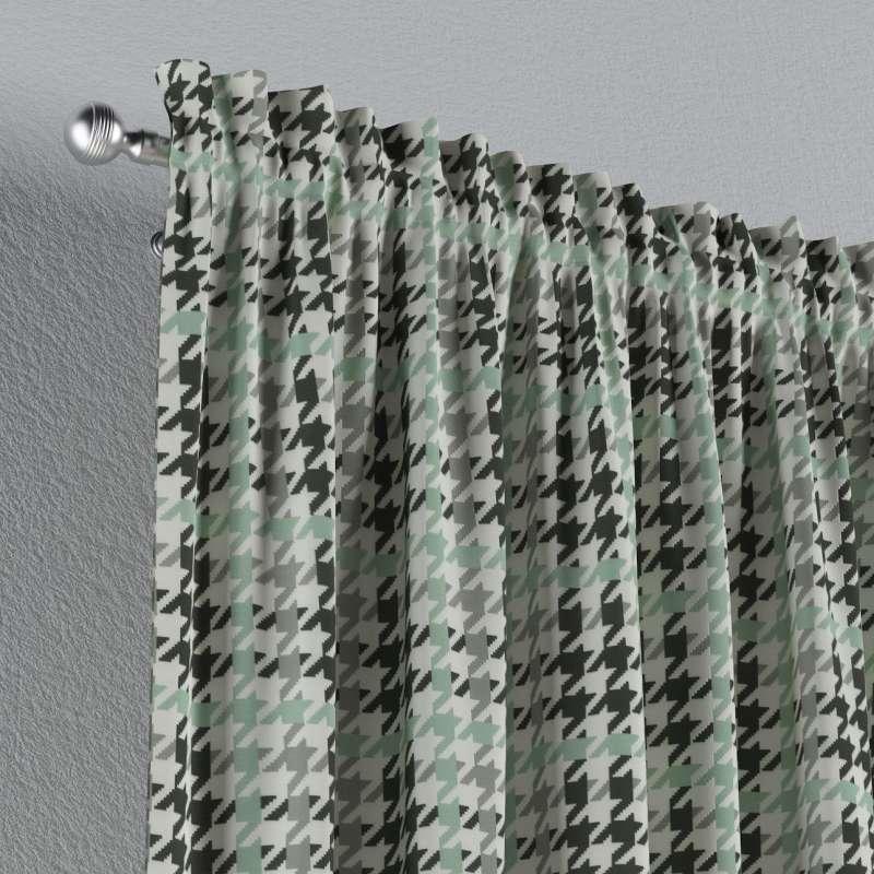 Vorhang mit Tunnel und Köpfchen von der Kollektion SALE, Stoff: 137-77