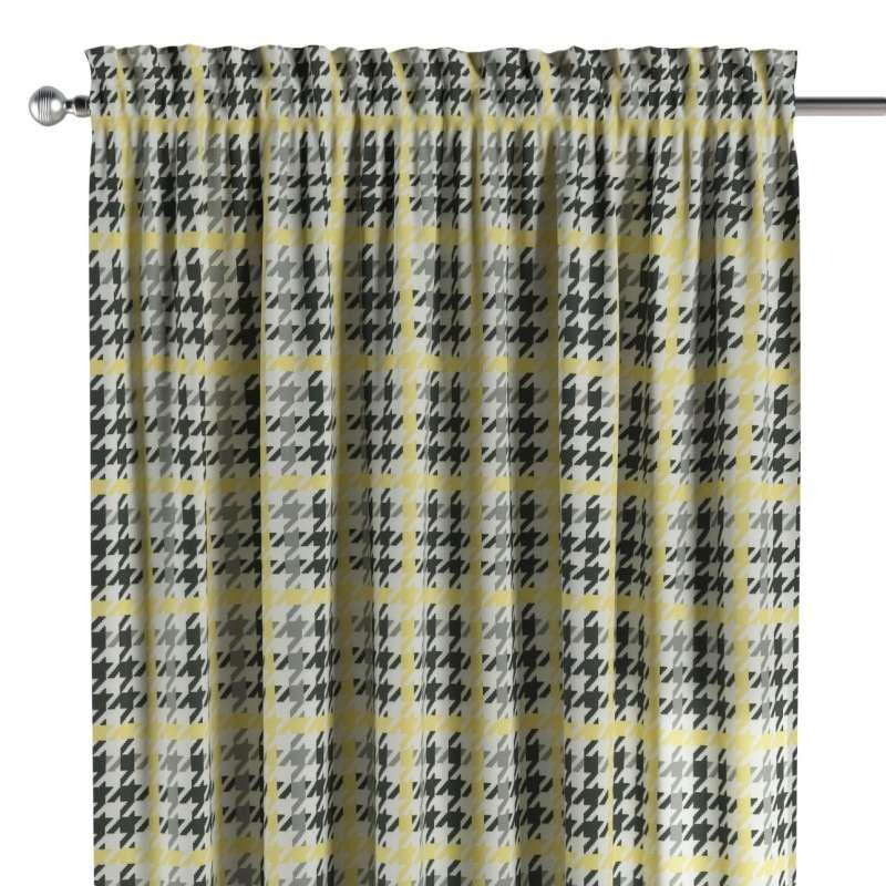 Zasłona na kanale z grzywką 1 szt. w kolekcji Brooklyn, tkanina: 137-79