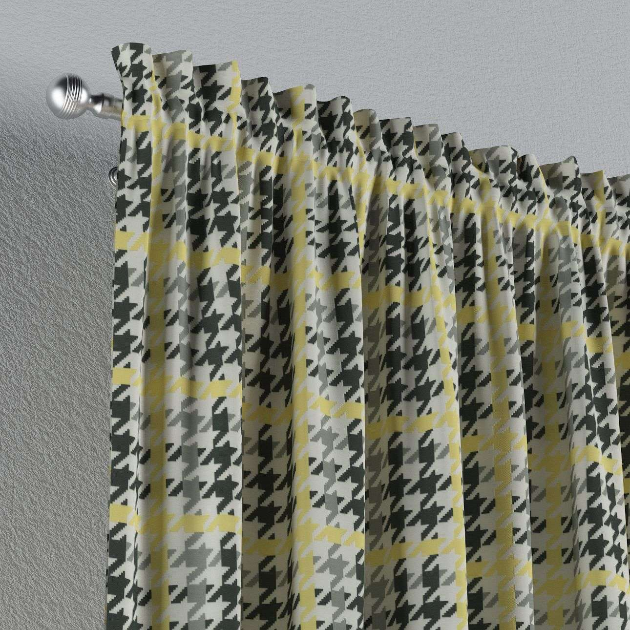 Zasłona na kanale z grzywką 1 szt. 1szt 130x260 cm w kolekcji Brooklyn, tkanina: 137-79