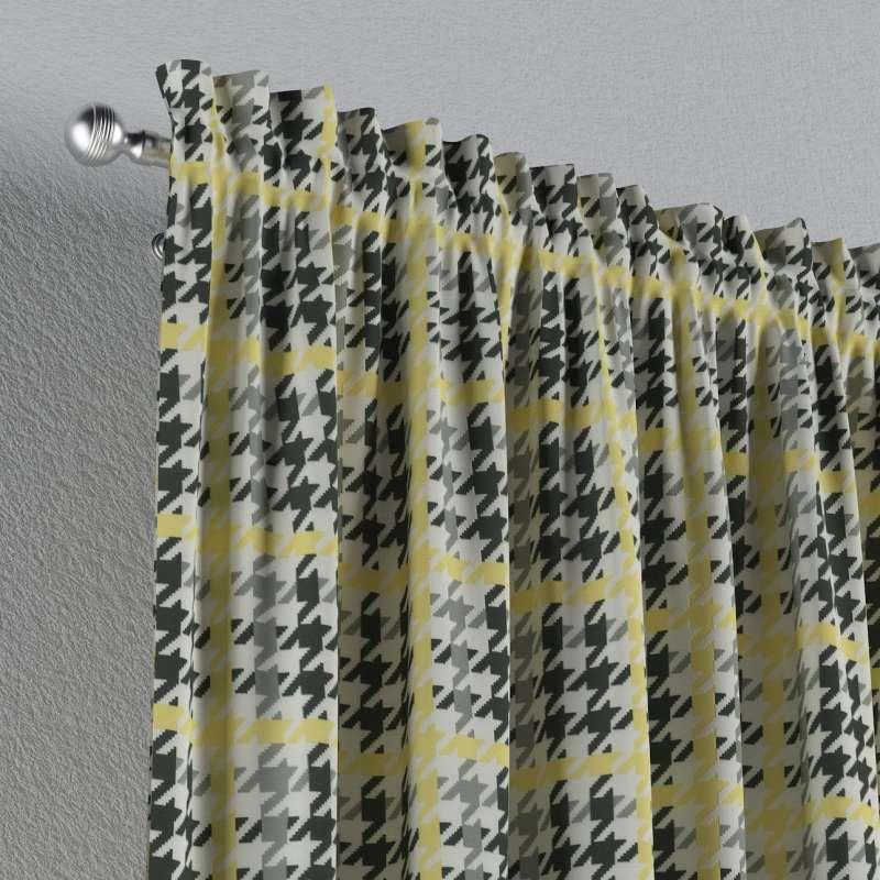 Záves s navliekacou riasiacou páskou V kolekcii Brooklyn, tkanina: 137-79