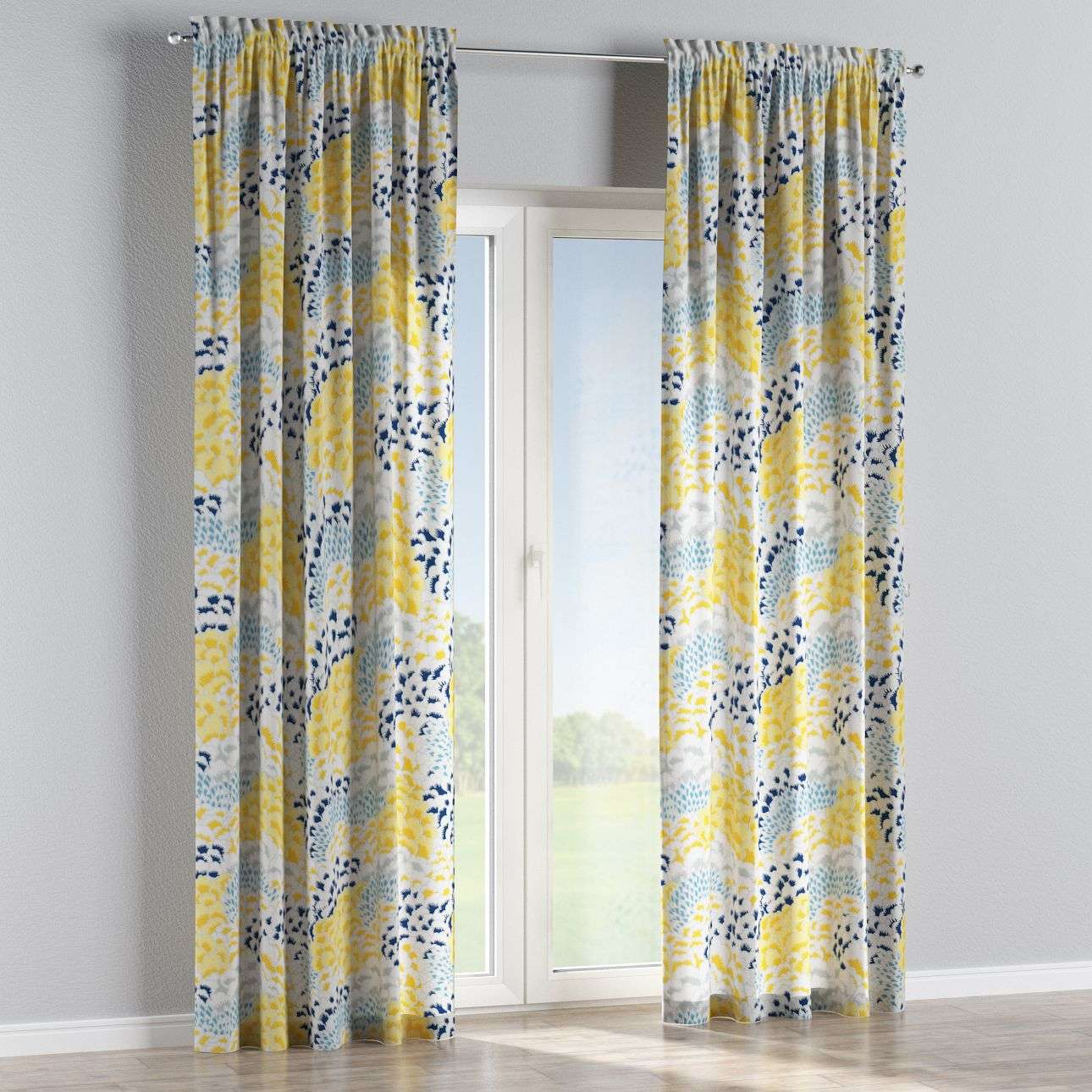 Slot and frill curtains in collection Brooklyn, fabric: 137-86