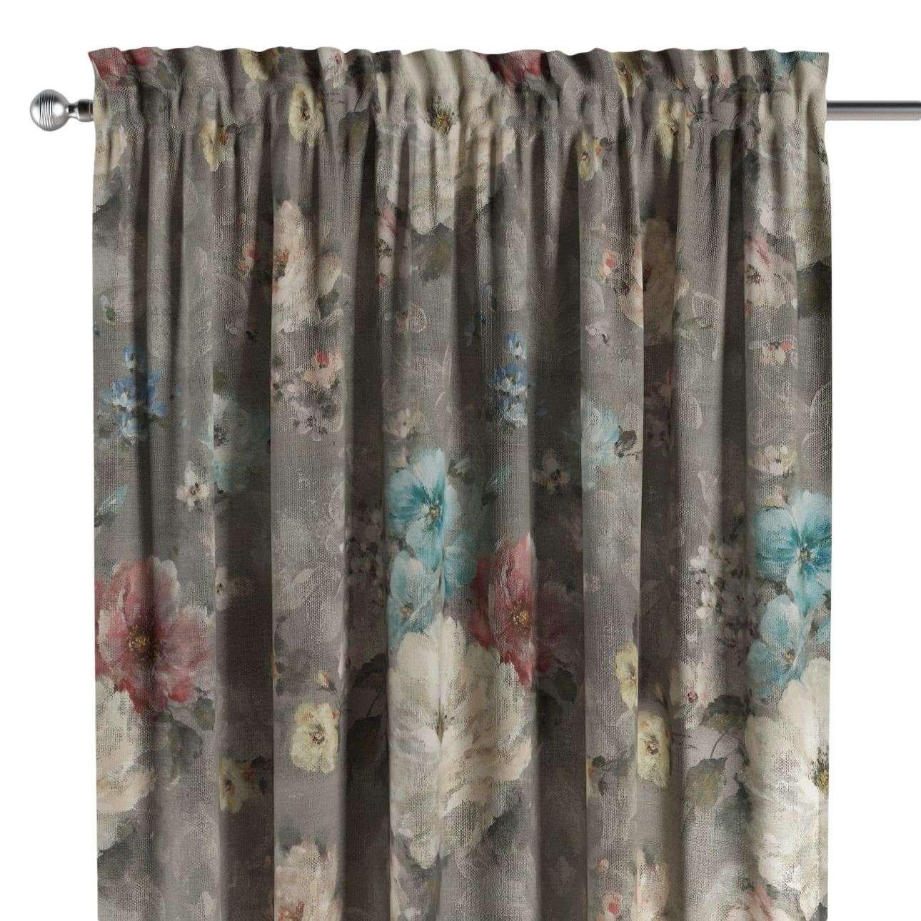 Záves s navliekacou riasiacou páskou V kolekcii Monet, tkanina: 137-81