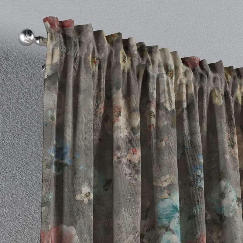 Zasłona na kanale z grzywką 1 szt. w kolekcji Monet, tkanina: 137-81