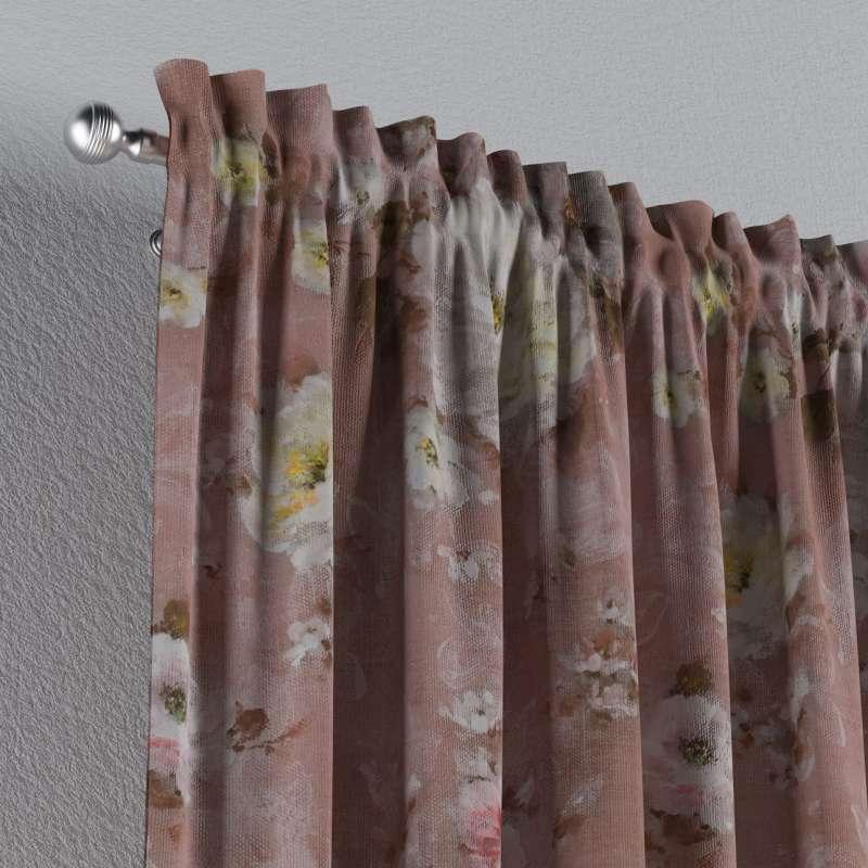 Vorhang mit Tunnel und Köpfchen von der Kollektion Flowers, Stoff: 137-83