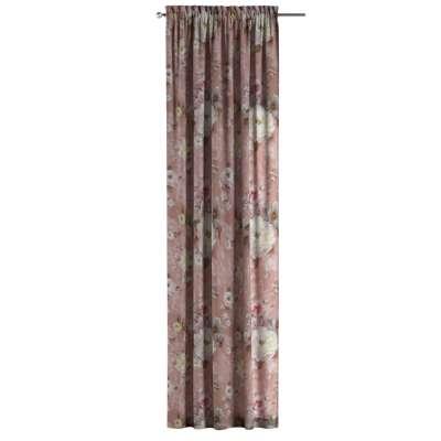 Zasłona na kanale z grzywką 1 szt. w kolekcji Flowers, tkanina: 137-83