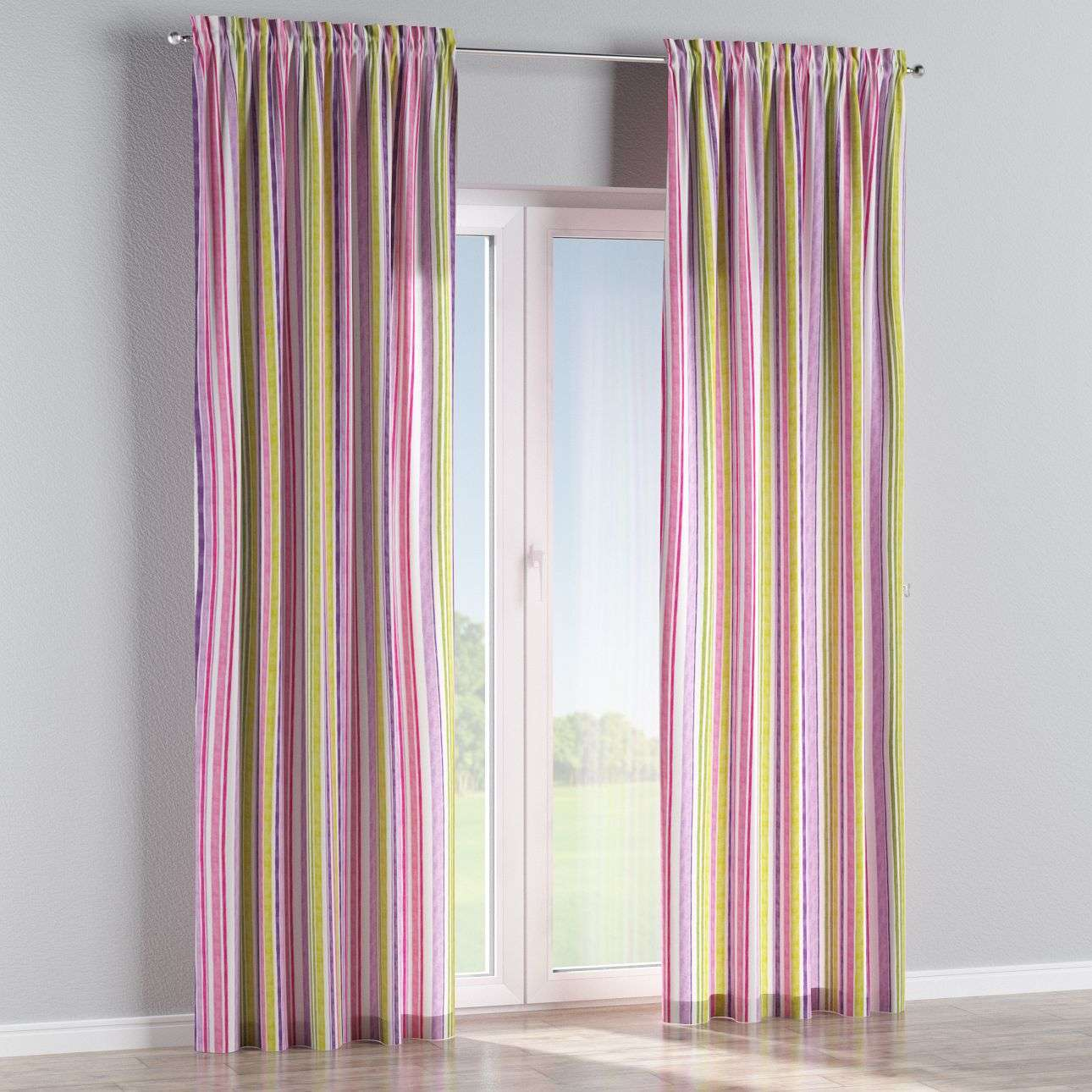 Slot and frill curtains in collection Monet, fabric: 140-01