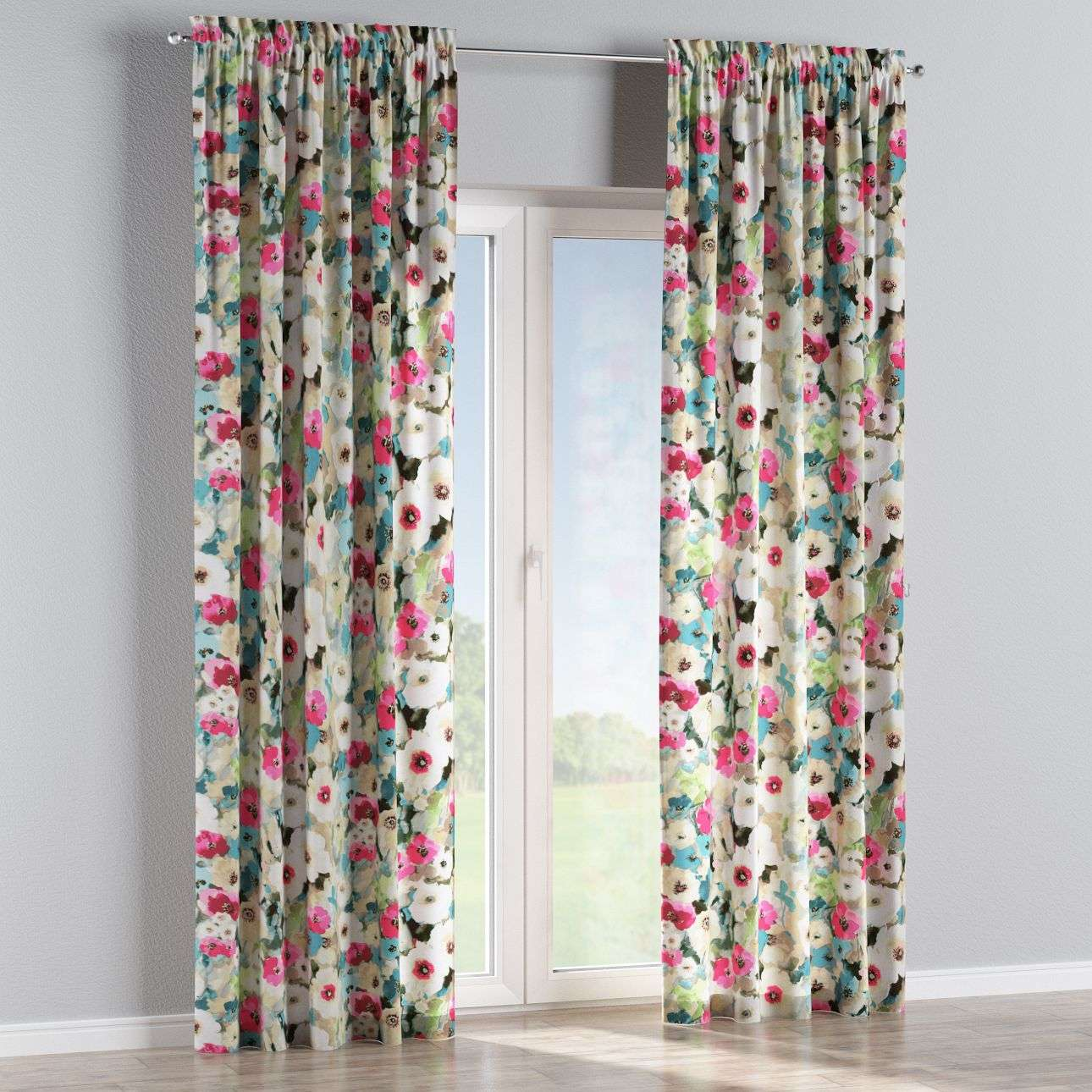 Slot and frill curtains 130 × 260 cm (51 × 102 inch) in collection Monet, fabric: 140-08