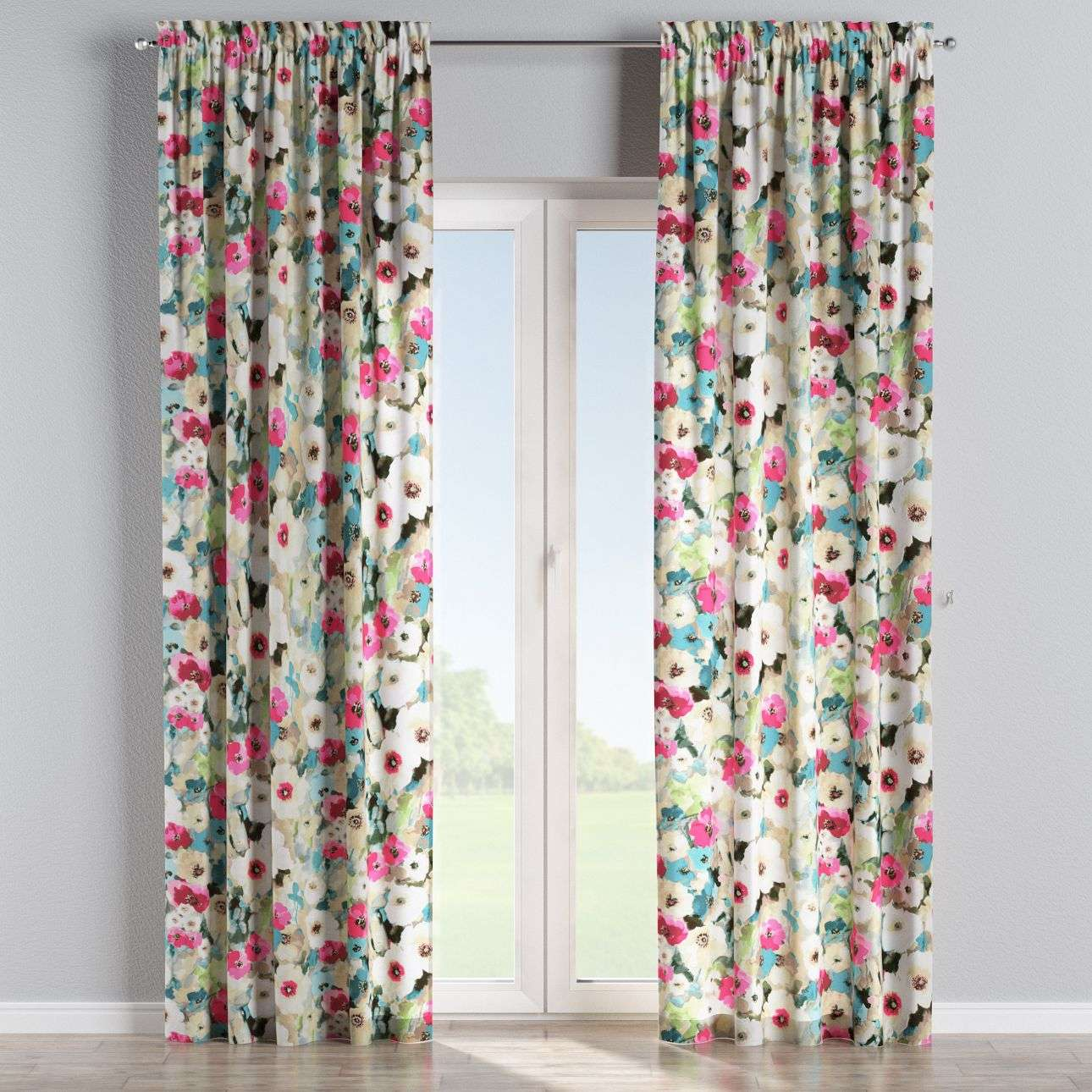 Slot and frill curtains 130 x 260 cm (51 x 102 inch) in collection Monet, fabric: 140-08