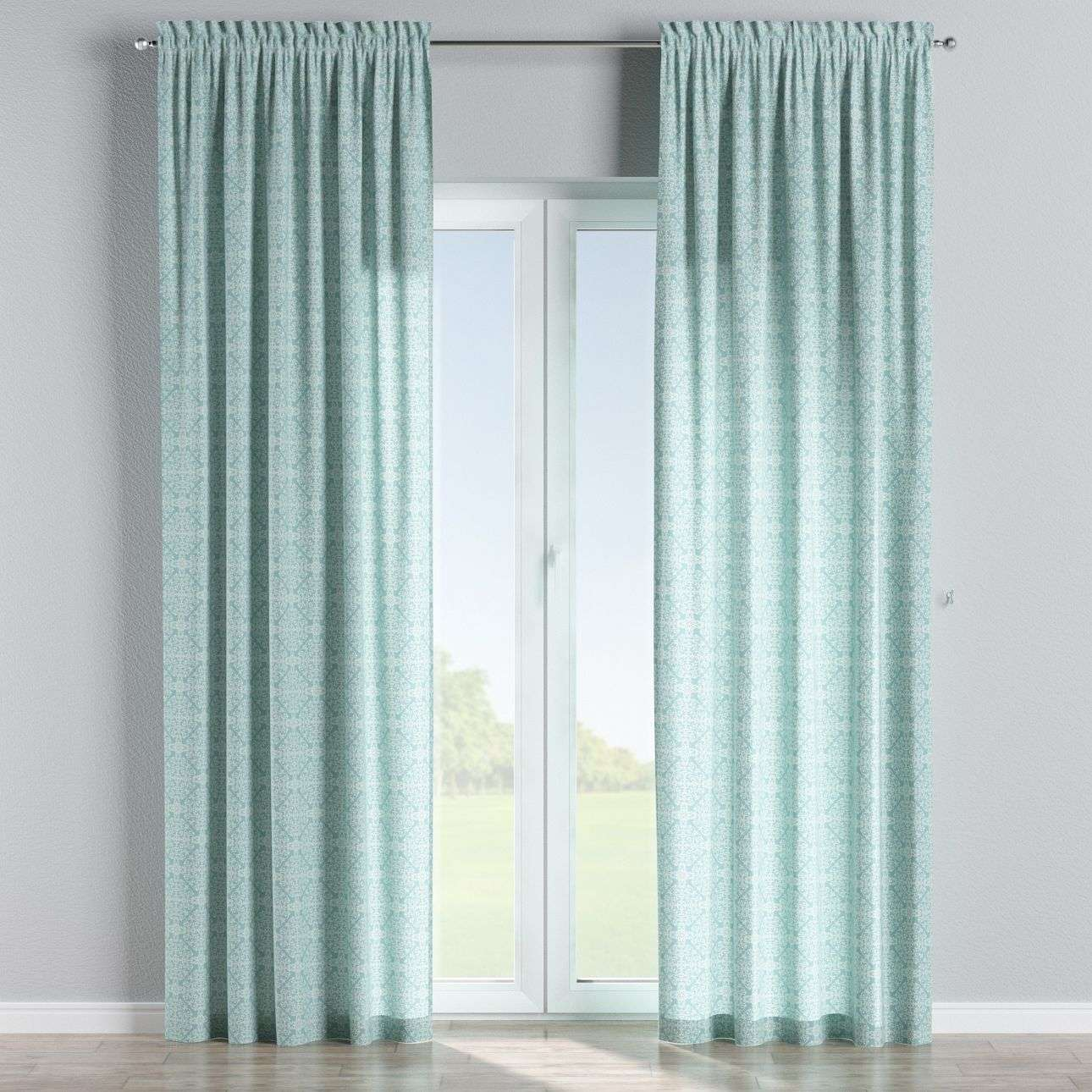 Slot and frill curtains 130 x 260 cm (51 x 102 inch) in collection Flowers, fabric: 140-37