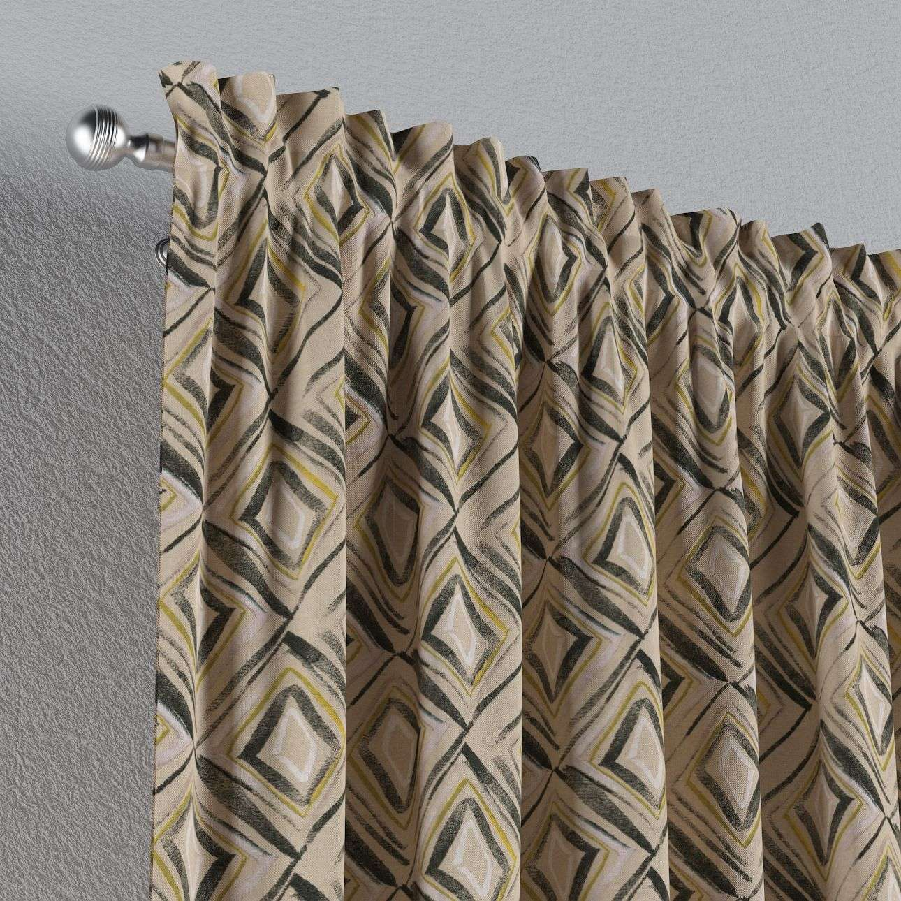 Slot and frill curtains 130 x 260 cm (51 x 102 inch) in collection Londres, fabric: 140-46