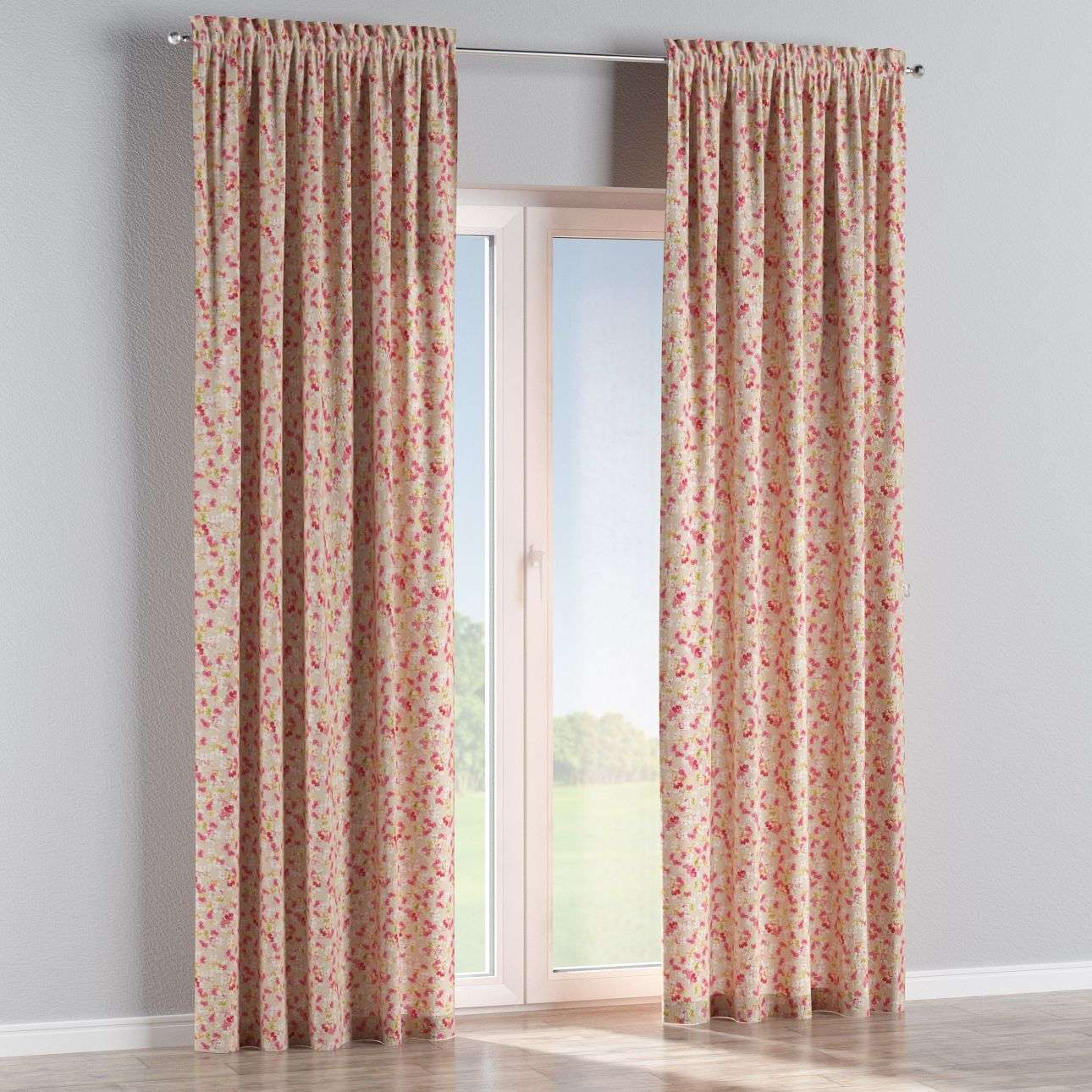 Slot and frill curtains in collection Londres, fabric: 140-47