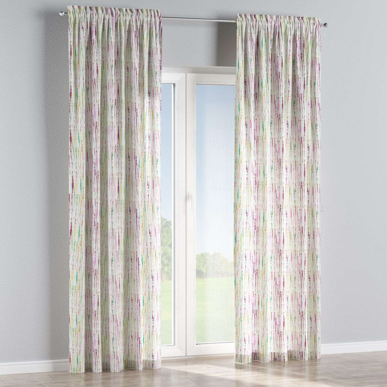 Slot and frill curtains 130 x 260 cm (51 x 102 inch) in collection Aquarelle, fabric: 140-72