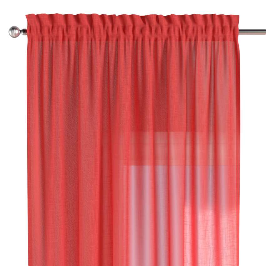 vorhang mit tunnel und k pfchen rot dekoria. Black Bedroom Furniture Sets. Home Design Ideas