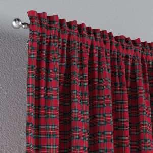 Zasłona na kanale z grzywką 1 szt. 1szt 130x260 cm w kolekcji Bristol, tkanina: 126-29