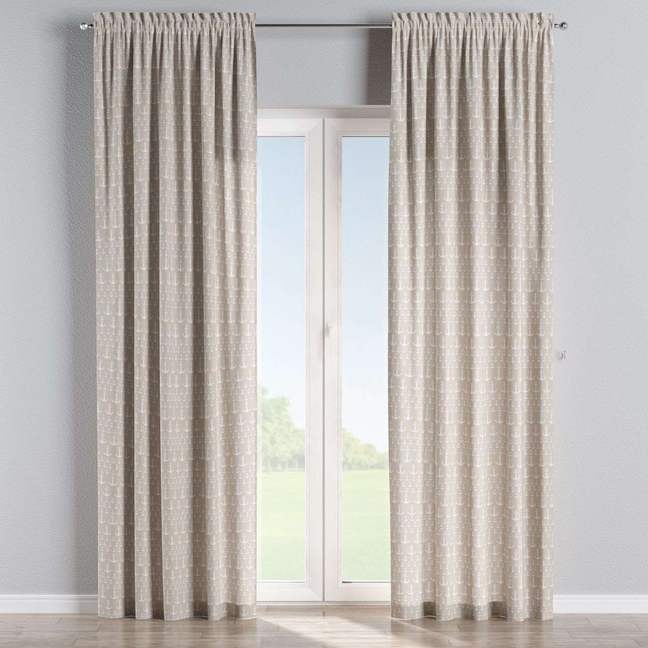 Slot and frill curtains 130 × 260 cm (51 × 102 inch) in collection Marina, fabric: 140-63