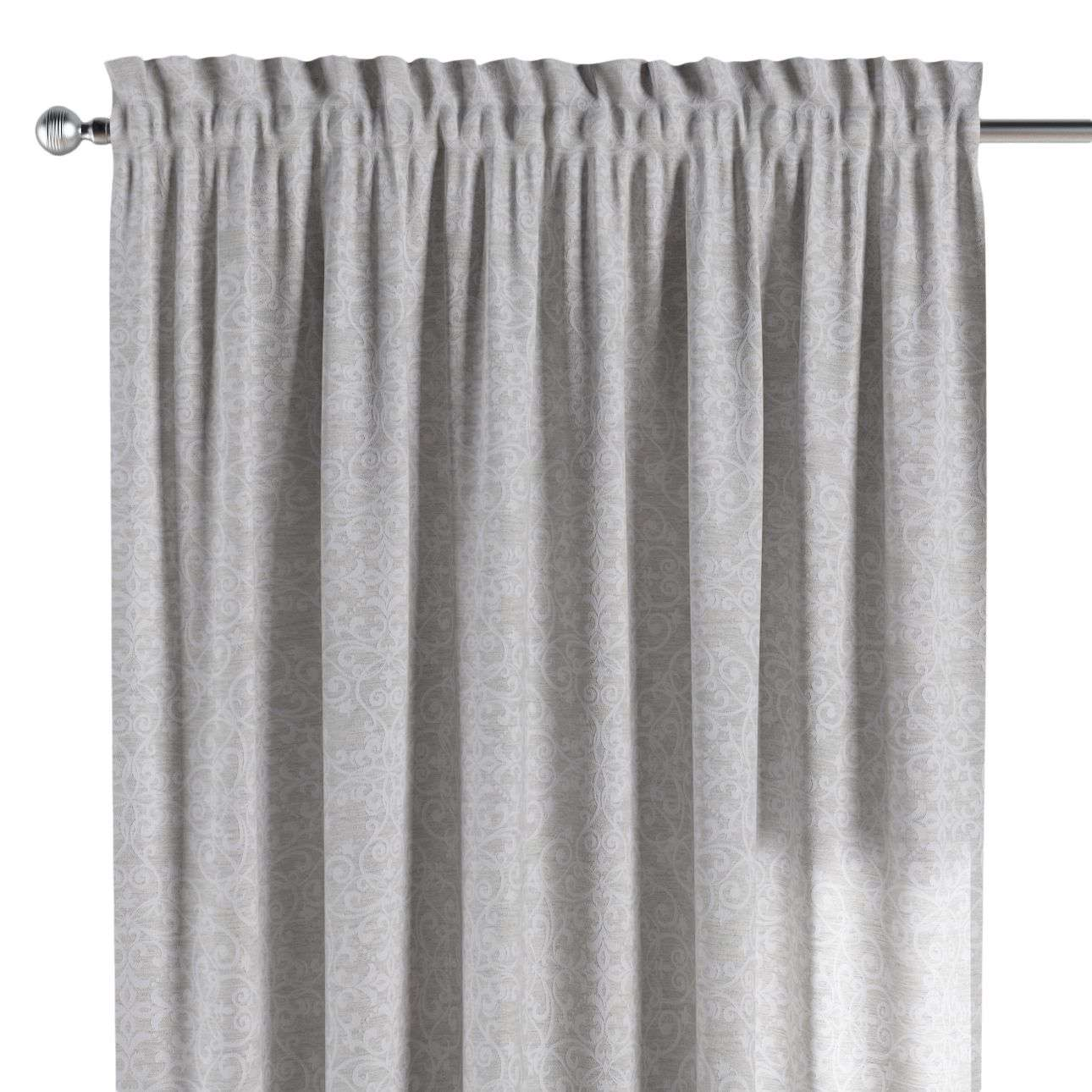 Slot and frill curtains 130 x 260 cm (51 x 102 inch) in collection Venice, fabric: 140-49
