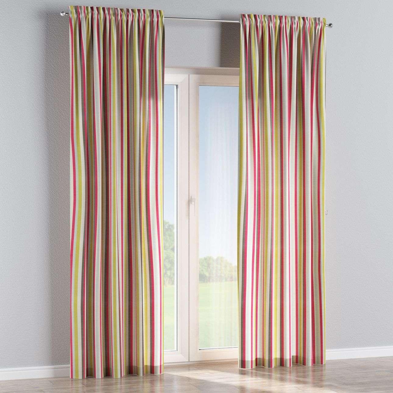 Slot and frill curtains in collection Flowers, fabric: 140-81