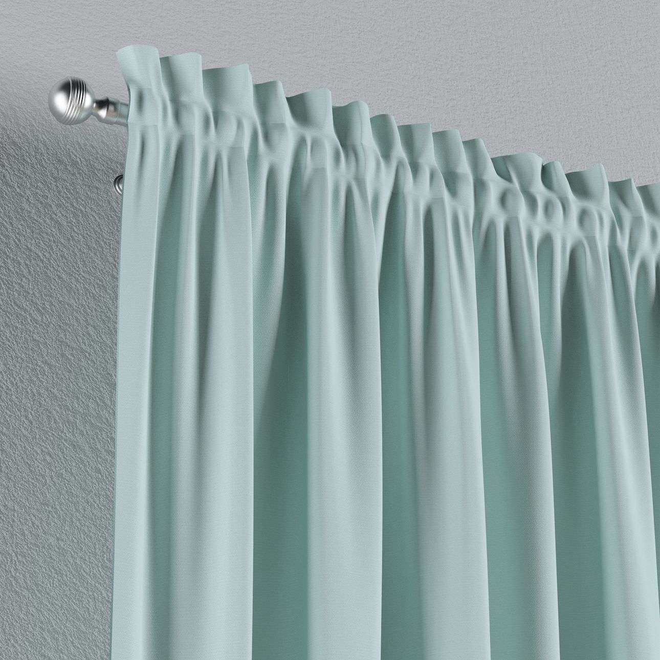 Zasłona na kanale z grzywką 1 szt. 1szt 130x260 cm w kolekcji Cotton Panama, tkanina: 702-10