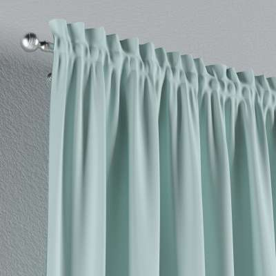 Vorhang mit Tunnel und Köpfchen von der Kollektion Cotton Panama, Stoff: 702-10