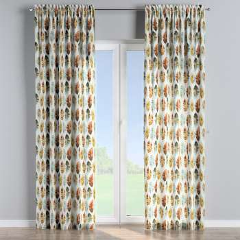 Slot and frill curtains 130 x 260 cm (51 x 102 inch) in collection Urban Jungle, fabric: 141-43