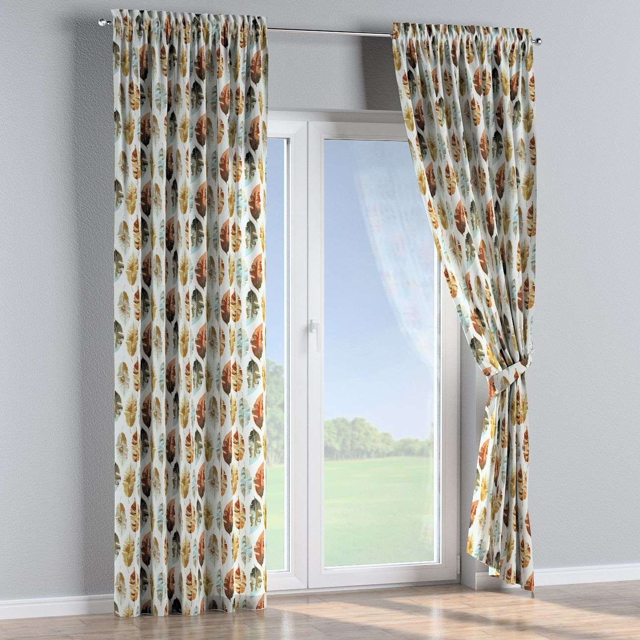 Slot and frill curtains 130 × 260 cm (51 × 102 inch) in collection Urban Jungle, fabric: 141-43