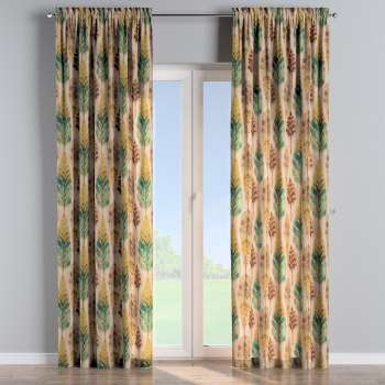 Slot and frill curtains 130 × 260 cm (51 × 102 inch) in collection Urban Jungle, fabric: 141-60